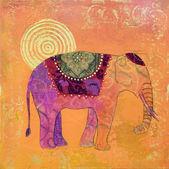 Elephant painting — Stock Photo