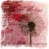 Handpainted flower artwork — Stock Photo