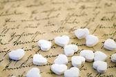 Lilla vita hjärtan — Stockfoto