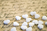 Littel white hearts — Stock Photo