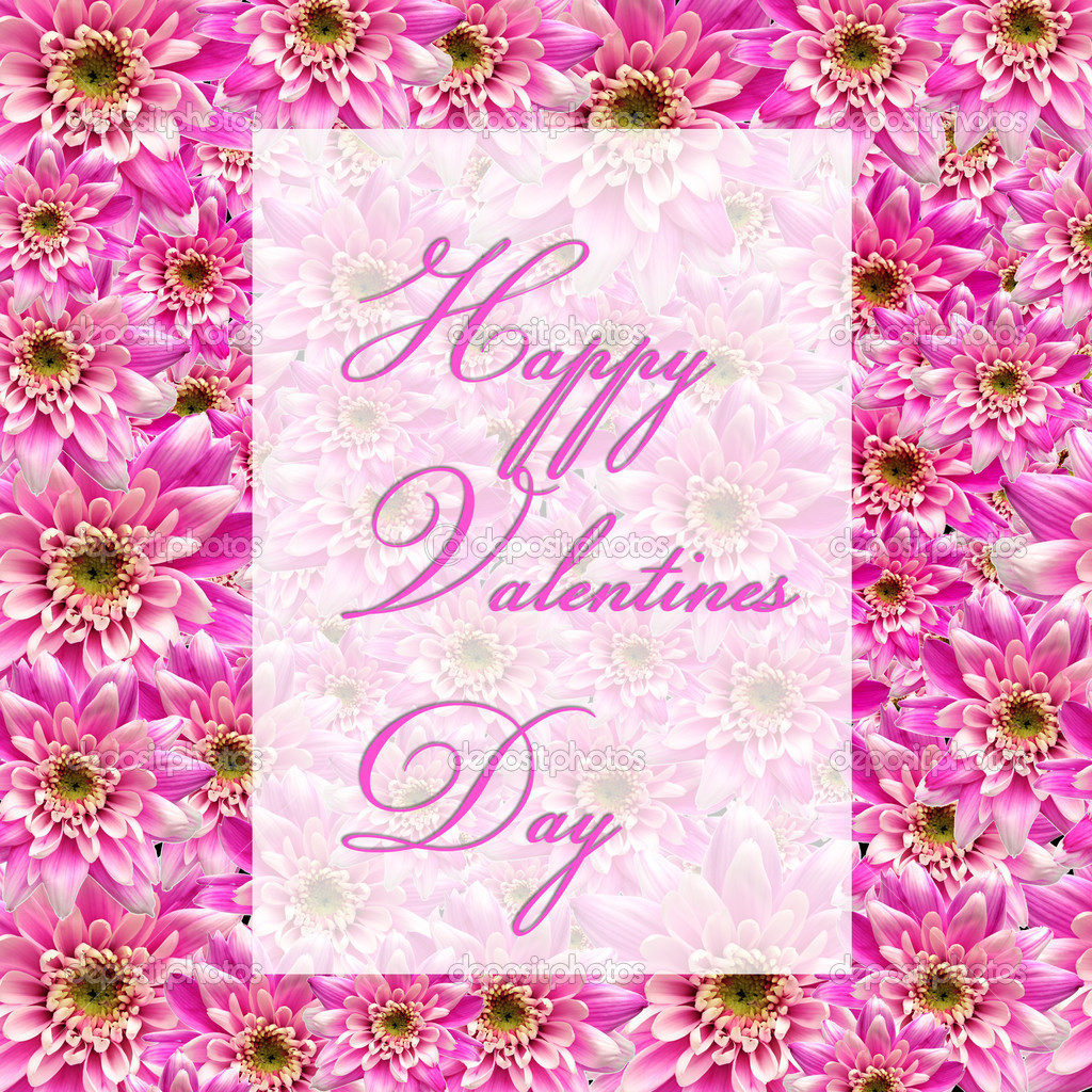 Valentines greetings on flower background  Stock Photo #1868012