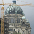 Berlin Cathedral/Berliner Dom with crane - Stock Photo