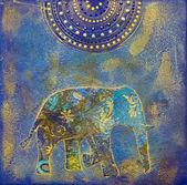 Colagem de elefante — Fotografia Stock
