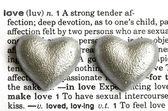 Serca i tekst — Zdjęcie stockowe