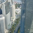 View from Jin Mao Tower in Shanghai - Stock Photo
