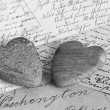 Nostalgic hearts - Stock Photo