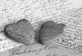 Nostalgic hearts — Stock Photo