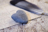 Stone heart still life — Stock Photo
