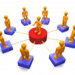 Stock Photo: Social Network 3D
