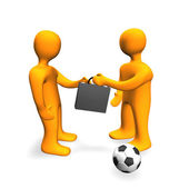 Human Bribe Deal Football 3D — Stock Photo