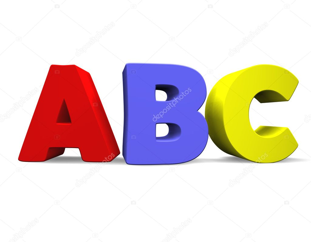 3d illustration looks the abc multicolored. — Stock Photo #1524413