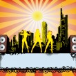 Stock Vector: Big City Party Flyer