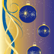 Royalty-Free Stock Photo: Christmas Time in blue