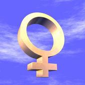 Feminine Symbol 3d — Stock Photo