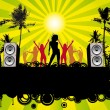 Royalty-Free Stock Vector Image: Retro Beach Party Flyer Ibiza