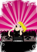 Party with Djane — Stock Vector