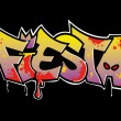 Graffiti Fiesta - Stock Vector