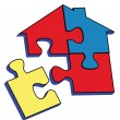 Royalty-Free Stock Vector Image: Puzzle House