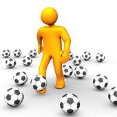 Human Soccer Ball 3D — Stock Photo