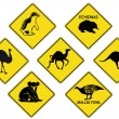 Royalty-Free Stock Vector Image: Australians Road Signs