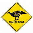 Mallee Fowl — Stockvectorbeeld