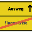 German Road Sign - Ausweg — Stock Vector