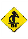 DJ — Stock Vector