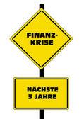 Finance Crisis - German Text — Stock Vector