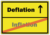 German Road Sign - Deflation Inflation — Stock Vector