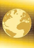 Golden I-Net World — Stock Vector
