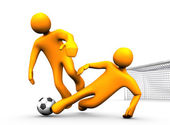 Tackle Soccer — Stock Photo
