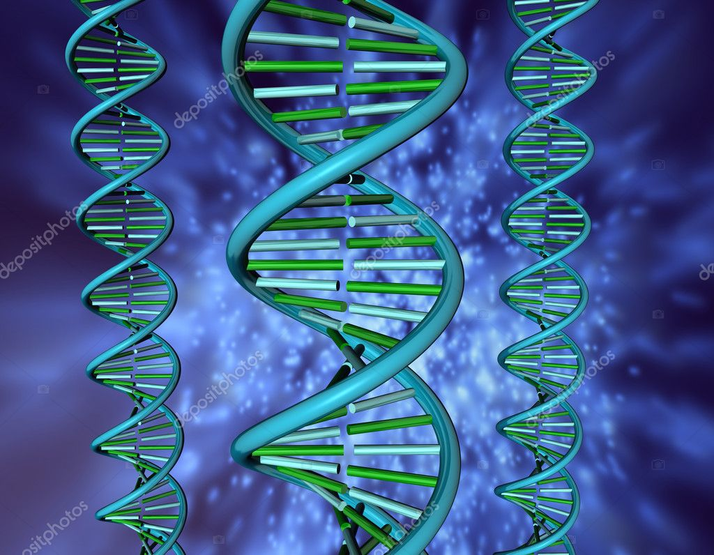 3D illustration looks dna on the blue background. — Stock Photo #1954597