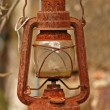Stock Photo: Rusty kerosene lamp
