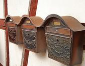 Retro letterboxes — Stock Photo