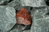 Granite hematite fragment — Stock Photo