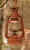 Rusty kerosene lamp — Stock Photo