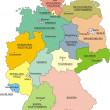 Map Germany with national boundaries - Stock Vector
