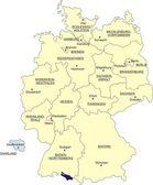 Almanya Haritası — Stok Vektör
