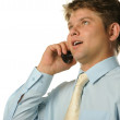 The businessman talking by a mobile phon — Stock Photo #1524966