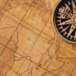Royalty-Free Stock Photo: Old compass and map