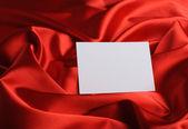 关于红色丝绸的说明 — 图库照片