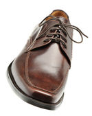 Shoe a brown leather — Stock Photo