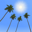 Royalty-Free Stock Photo: Palm trees and the sun
