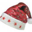 Hat Santa with ornament night sky - Stock Photo