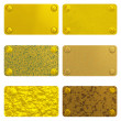Set of gold labels - Stock Photo