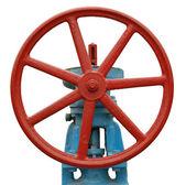 Industrial valve isolated — Stock Photo