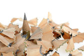 Pencil in an environment shavings — Stock Photo