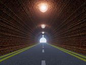 Tunnel and asphalt road — Stock Photo