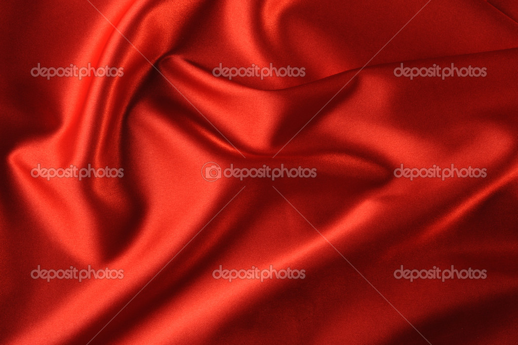 Red satin background. A satiny fabric with beautiful light-shadow waves — Stock Photo #1532925