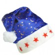 Hat Santa with ornament night sky — Stock Photo #2634280